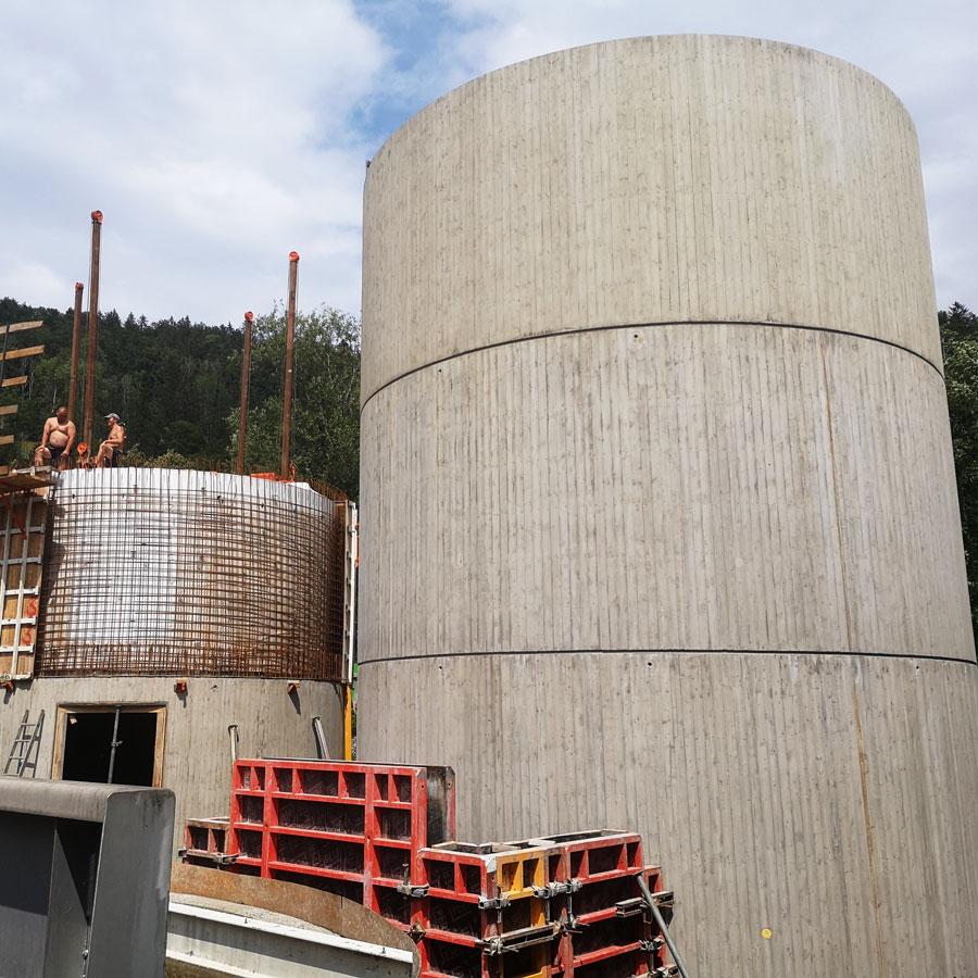 Trübwasser- und Gasbehälter in Bezau - Österreich