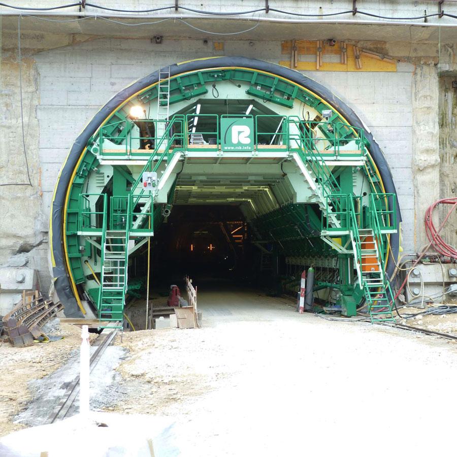 Projekt Tunnel Gewölbeschalung Biel - Schweiz