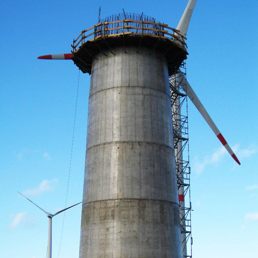 Windkraftturm-Fundament in Cuxhaven - Deutschland