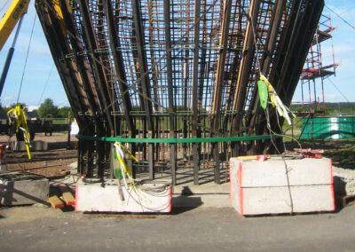 Schwerkraft-Fundamente (GBF) in Karehamn - Schweden