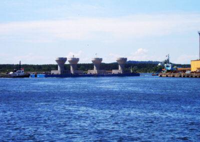 Schwerkraft-Fundamente (GBF) in Lillgrund - Schweden