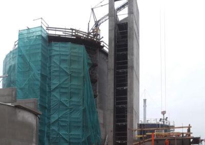 Faulturm und eckiger Treppenturm in Norden - Deutschland