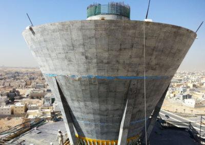 Wasserturm Riyadh GAC, Saudi Arabien