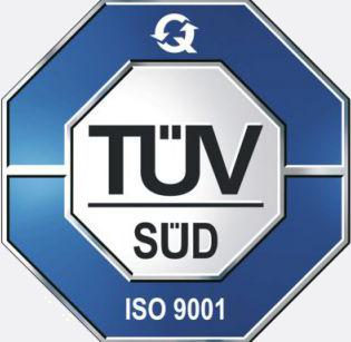 TÜV-Süd ISO 9001 Zertifizierung