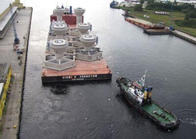 Schwerkraft-Fundamente (GBF) in Sprogo - Dänemark