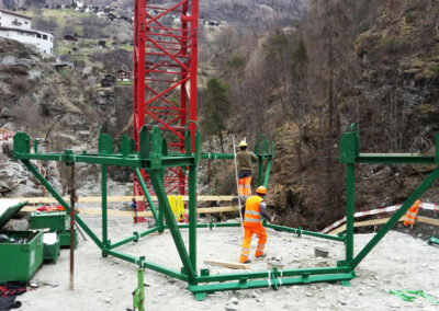 Chinegga Brücke, Umfahrung Stalden - Schweiz