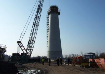 Projekt Windkraftturm mit Fundament in Bremerhaven - Deutschland