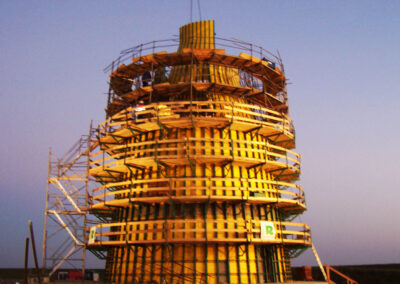 Projekt Windkraftturm mit Fundament in Cuxhaven - Deutschland