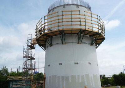 Windkraftturm mit Fundament in Hamburg 1 und 2 - Nordex - Deutschland