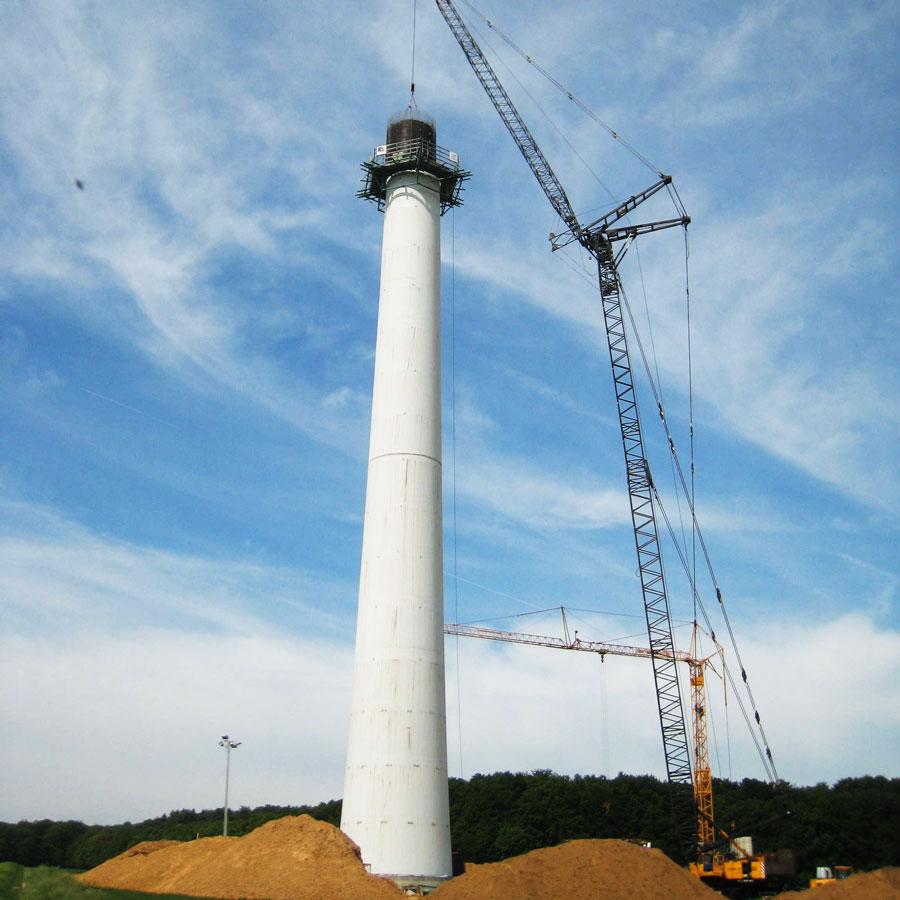 Windkraftturm mit Fundament in Uengershausen Nordex 3 und 4 - Deutschland